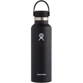 Hydro Flask Standard Mouth Stainless Steel Bottle with Standard Flex Cap 621ml, zwart